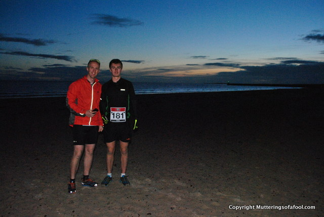 At the start of the Scotland Coast to Coast. Full of excitement and trepidation at the challenge ahead. No Hulk in sight.