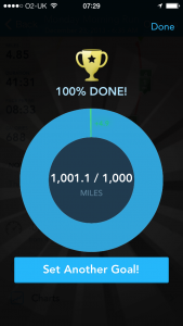 1000 miles done