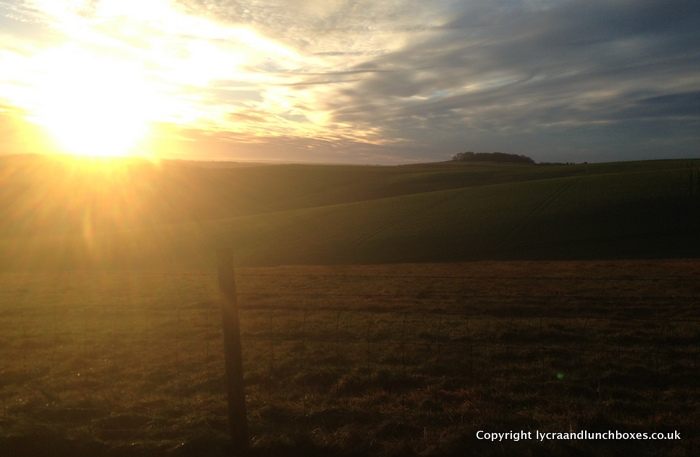 Golden sun over Barbury castle-001