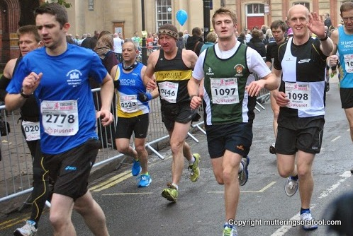 Yorkshire marathon action shot