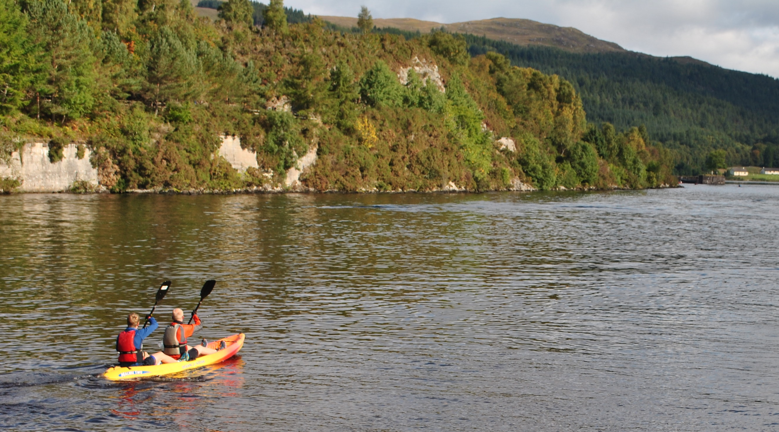 Kayaking loch ness
