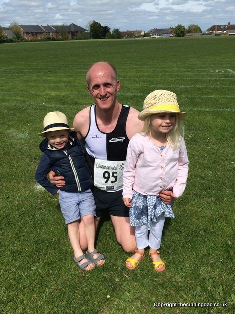 Commonweal 5 mile finish with the kids