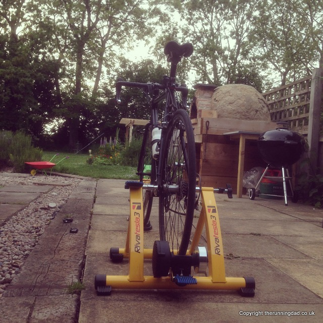 Turbo trainer in the garden