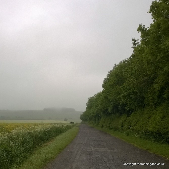 Ridgeway run in the mist